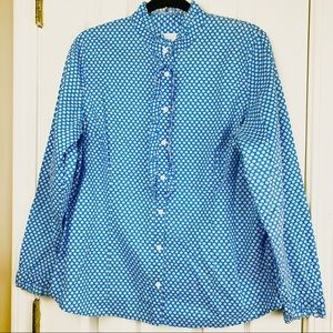 Charter Club Blue & White Daisy Print Size Large